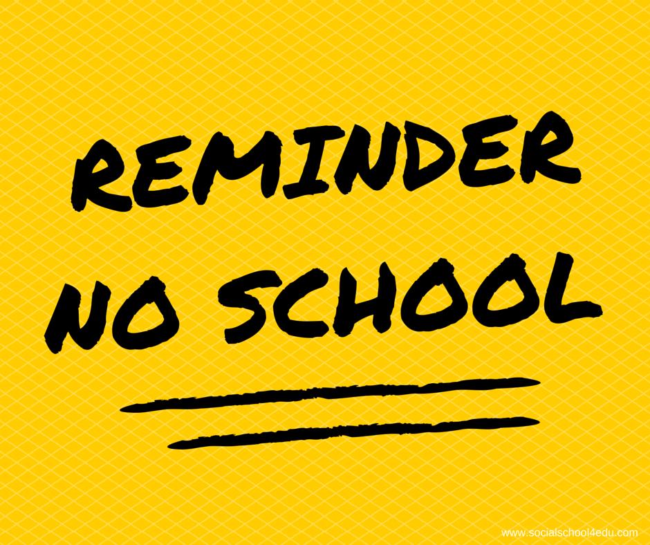 No School Friday December 13th